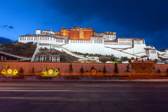 Potala Palace at Night. The Potala Palace illuminated at night in Lhasa, Tibet, China Stock Image