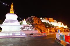 Potala Palace at night Royalty Free Stock Images