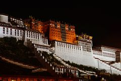 Potala Palace. At the night Stock Photos