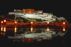 The Potala Palace at Night Royalty Free Stock Photos