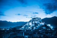 The potala palace at night Royalty Free Stock Image