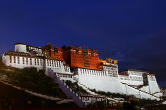 Potala Palace at Night. Dalai Lama's former residence in Lhasa - Potala Palace at Night Stock Images