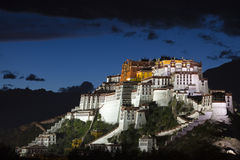 Potala Palace at night Royalty Free Stock Photo