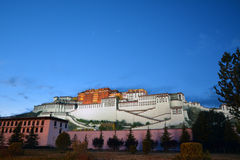 Potala palace  night  in Tibet Royalty Free Stock Images