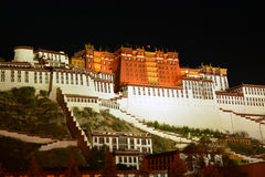 Potala palace  night  in Tibet Stock Images