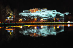 Potala Palace Night View Stock Images
