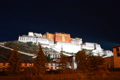 Potala Palace night view Royalty Free Stock Images
