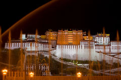 Potala Palace Night Water Streams Royalty Free Stock Photography