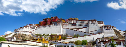 Potala palace panorama Royalty Free Stock Photo