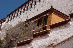 Potala palace parts Royalty Free Stock Photography