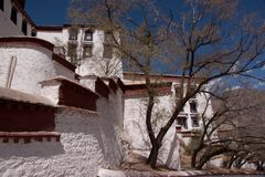 Potala palace parts Royalty Free Stock Photo