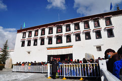 Potala Palace with Pilgrims Stock Photo