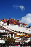 Potala Palace with Pilgrims Stock Photography