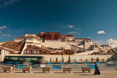 The Potala Palace and sky Stock Image