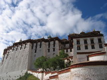 Potala Palace Sky. Sky over the Potala Palace in Lhasa, Tibet stock photos