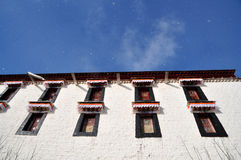 Potala Palace in Snow Stock Images