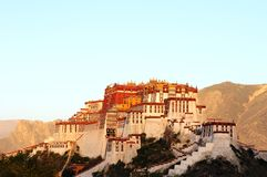 Potala Palace at sunrise Stock Photography