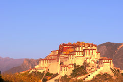Potala Palace at sunrise Stock Photo
