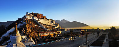 Potala Palace in tibet Stock Photos