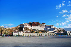 Potala Palace in Tibet. Travel Good weather in Lhasa royalty free stock image