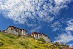 Potala palace in Tibet with beautiful sky Stock Photos