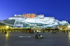 The Potala Palace in Tibet stock images