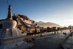 Potala Palace,Tibet. Triditional Tibet architecture, the landmark of Tibet, Potala stock photo