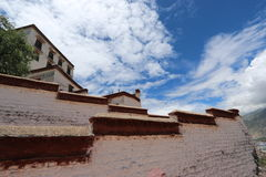 Potala palace in Tibet unseen views Royalty Free Stock Images