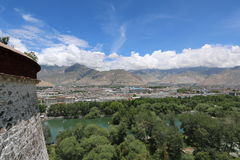 Potala palace in Tibet unseen views Stock Image