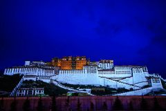 Potala Palace. The twilight at Potala palace Stock Photography