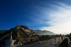 The Potala Palace under sunlight. In tibet Stock Photography