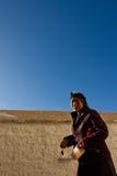 Potala Palace Woman Devotee Lhasa Tibet Stock Photography
