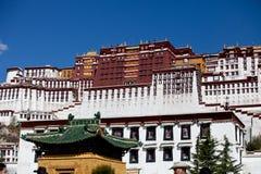 布达拉宫,西藏 库存图片