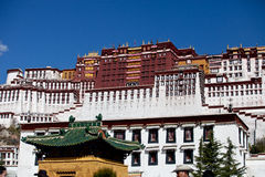 Potala Palace, Tibet. Front view of Potala Palace, Tibet, China. Picture taken in the morning Stock Image