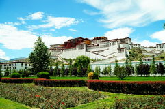 Potala Palast in Lhasa Stockbild
