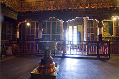 Potala Palastinnenraum - Lhasa Lizenzfreies Stockbild