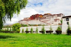 Potala Place. Potala Palce -- the winter palace for Tibetan Buddhism Vajrayana Buddhist stock images
