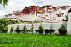 Potala Place. Potala Palce -- the winter palace for Tibetan Buddhism Vajrayana Buddhist royalty free stock photography