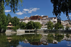 Potala slott i Lhasa 库存图片
