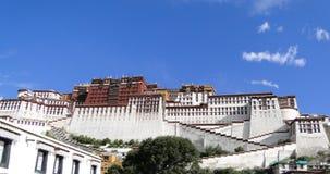 Potala slott i Lhasa, Tibet region Royaltyfri Bild