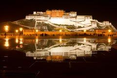 potala tibet för porslinlhasa slott Arkivbild