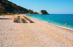 Potami beach, Samos stock photography