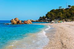 Potami beach, Samos royalty free stock photography