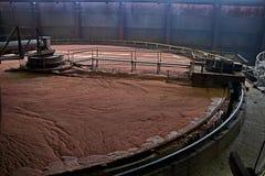 Potash flotation tank. Flotation tank filled with solution stock photos