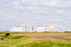 Potash Mine. In Saskatchewan Stock Image