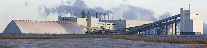 Potash Mine Saskatchewan Stock Photo