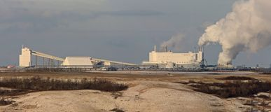 Potash Mine Saskatchewan stock image