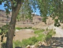 Colorado River. Potash Road along the Colorado River running through the canyon just south of Moab, Utah Royalty Free Stock Images