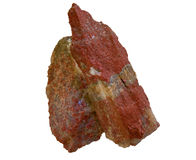 Potash salt. Stone piece of red ore of potash salt Royalty Free Stock Image