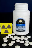 Potassium Iodide Pills. Treatment for Radiation Exposure Stock Photos